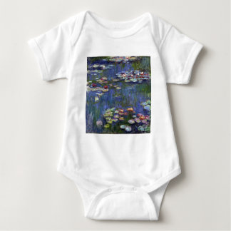 Claude Monet Water Lilies Baby Bodysuit