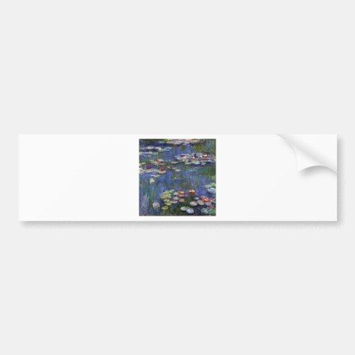 Claude Monet Water Lilies Bumper Sticker