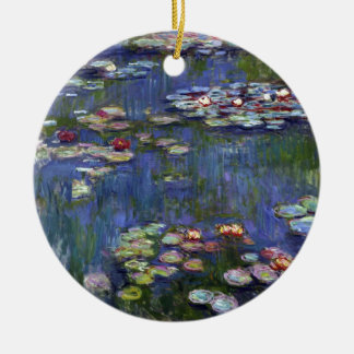 Claude Monet Water Lilies Christmas Ornament