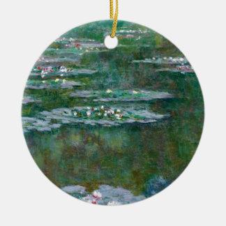 Claude Monet // Water Lilies Round Ceramic Decoration