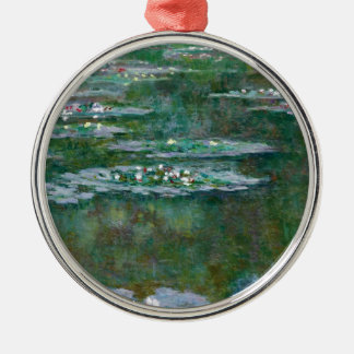 Claude Monet // Water Lilies Silver-Colored Round Decoration