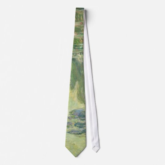 Claude Monet Water Lilies Impressionist Painting Tie