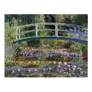 Claude Monet,water lilies,japanese bridge,garden, Postcard
