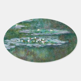 Claude Monet // Water Lilies Oval Sticker