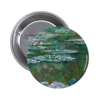 Claude Monet Water Lilies Pinback Button