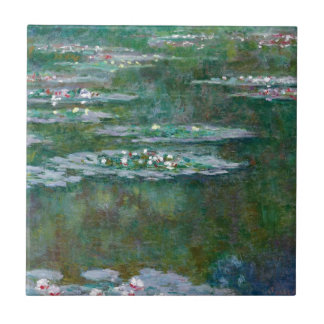 Claude Monet // Water Lilies Small Square Tile