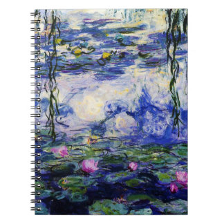 Claude Monet-Water-Lilies Spiral Note Books