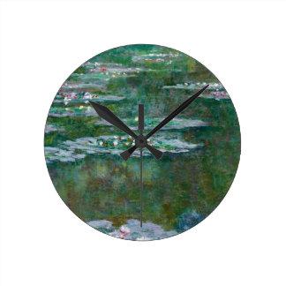 Claude Monet // Water Lilies Wall Clocks