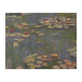 Claude Monet - Water Lilies Wood Canvas