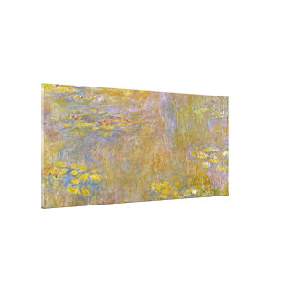 Claude Monet - Water Lilies ( Yellow Nirvana) Gallery Wrapped Canvas