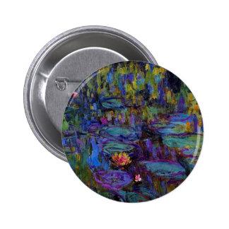 Claude Monet Water Lillies 1917 6 Cm Round Badge