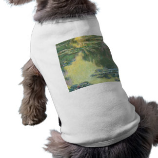 Claude Monet Water Lily Painting Impressionist Art Pet T-shirt