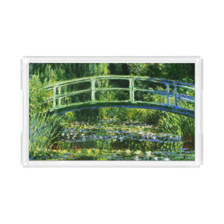 Claude Monet-Water-Lily Pond Acrylic Tray