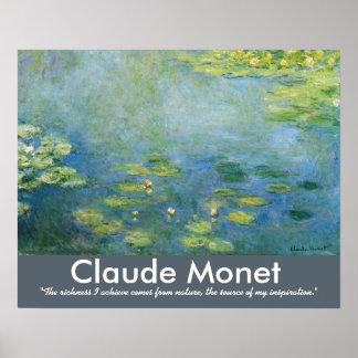 Claude Monet Waterlilies Artist Quote Poster
