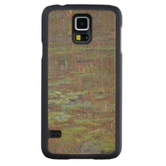 Claude Monet | Waterlilies at Sunset Carved Maple Galaxy S5 Case