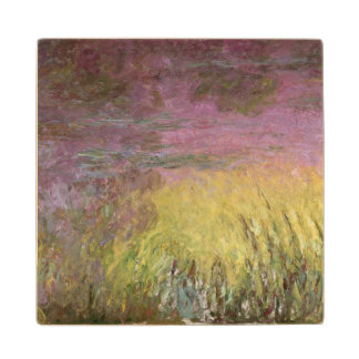 Claude Monet | Waterlilies at Sunset Maple Wood Coaster