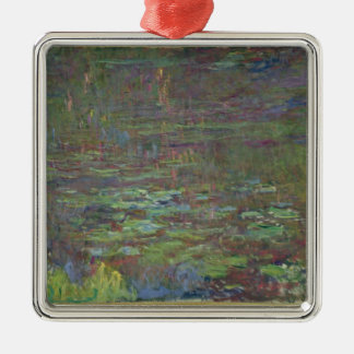 Claude Monet | Waterlilies at Sunset Silver-Colored Square Decoration