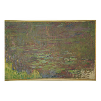 Claude Monet | Waterlilies at Sunset Wood Print