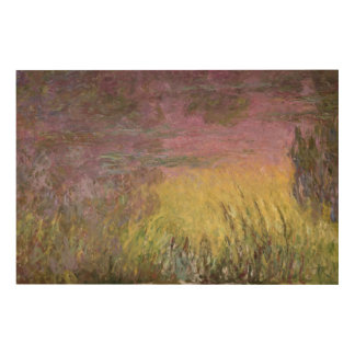 Claude Monet | Waterlilies at Sunset Wood Wall Decor