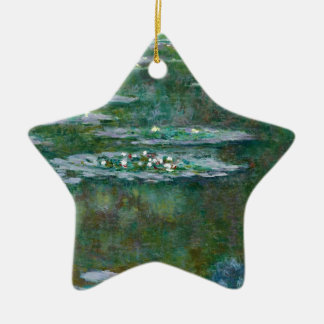 Claude Monet // Waterlilies Ceramic Star Decoration