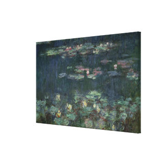 Claude Monet | Waterlilies: Green Reflections Canvas Print