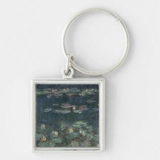 Claude Monet | Waterlilies: Green Reflections Key Ring
