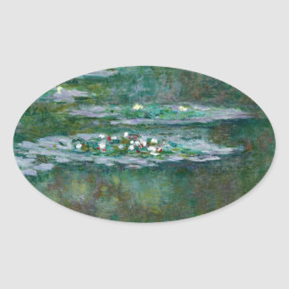 Claude Monet // Waterlilies Oval Sticker