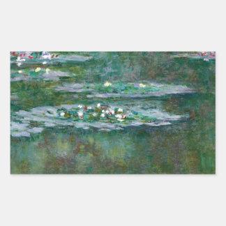 Claude Monet // Waterlilies Rectangular Sticker