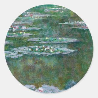 Claude Monet // Waterlilies Round Sticker