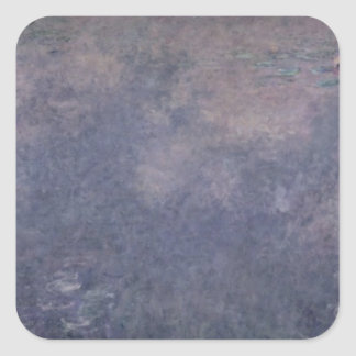 Claude Monet | Waterlilies: Two Weeping Willows Square Sticker