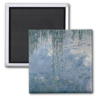Claude Monet | Waterlilies: Weeping Willows, 1914 Square Magnet