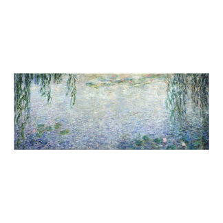 Claude Monet | Waterlilies Weeping Willows centre Canvas Print