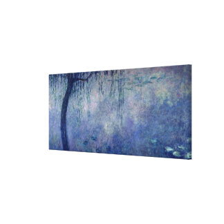 Claude Monet | Waterlilies: Weeping Willows left Canvas Print