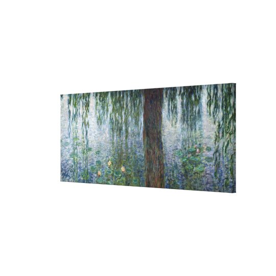 Claude Monet | Waterlilies Weeping Willows left Canvas