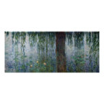 Claude Monet | Waterlilies Weeping Willows left Poster