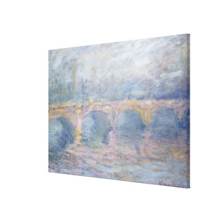 Claude Monet | Waterloo Bridge, London, at Sunset Canvas Print