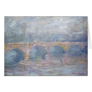 Claude Monet | Waterloo Bridge, London, at Sunset Card