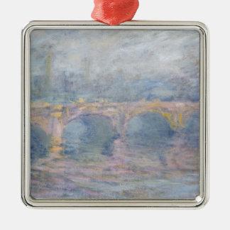 Claude Monet   Waterloo Bridge, London, at Sunset Silver-Colored Square Decoration