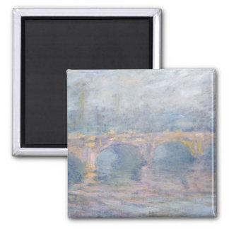 Claude Monet | Waterloo Bridge, London, at Sunset Square Magnet