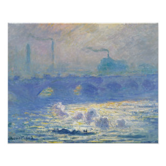 Claude Monet - Waterloo Bridge Poster
