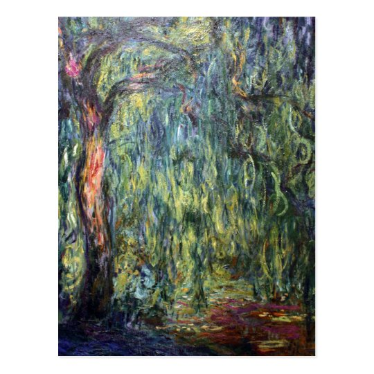 Claude Monet Weeping Willow Postcard