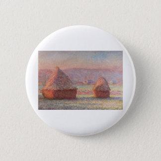 Claude Monet - White Frost Sunrise 6 Cm Round Badge