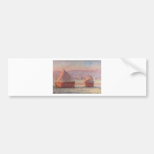 Claude Monet - White Frost Sunrise Bumper Sticker