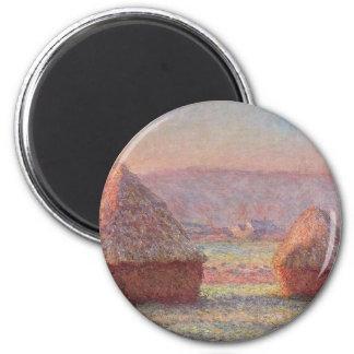 Claude Monet - White Frost Sunrise Magnet