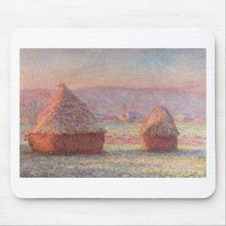Claude Monet - White Frost Sunrise Mousepad