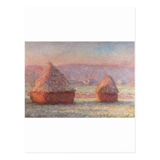 Claude Monet - White Frost Sunrise Postcard