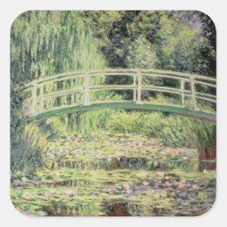 Claude Monet   White Nenuphars, 1899 Square Sticker