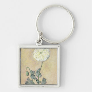 Claude Monet | White Poppy, 1883 Key Ring
