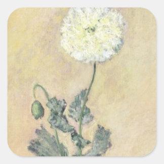 Claude Monet | White Poppy, 1883 Square Sticker