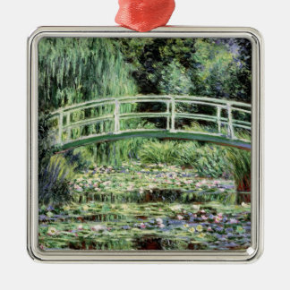 Claude Monet | White Waterlilies, 1899 Silver-Colored Square Decoration